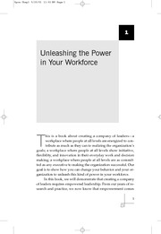A Company of Leaders: Five Disciplines for Unleashing the Power in Your Workforce Chapter 1