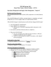 ITM 309 Exam 3 Notes - Spring 2011.pdf