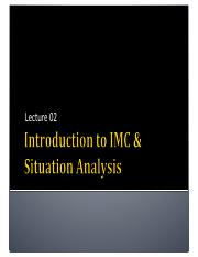 L2_Intro to IMC and SituationAnalysis