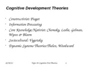 Topic 04 Theories of Cognitive Development Fall 2013
