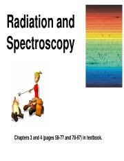 PP3. Radiation, Spectroscopy