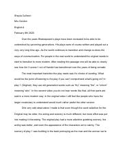 Shakesspeare Play Compare & Contrast Essay Shayla Cullison (1)PDF.pdf