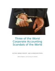 Three of the Worst Corporate Accounting Scandals of the World.docx