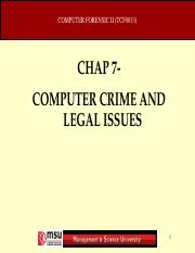 Chapter 7 - COMPUTER CRIME AND LEGAL ISSUES .ppt