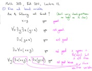 Math 303 Free and Bound Variables