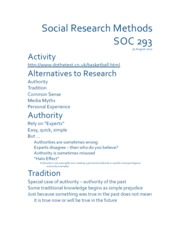 Week 1.2 - Paradigms, Theory & Social Research