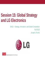 Lecture 15 - Global Strategy (LG Electronics Case) .pptx