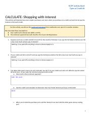 Copy of PF3: CALCULATE: Shopping with Interest (#6)