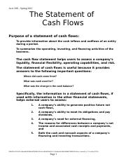 CashFlow with solutionsx