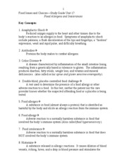 Food Issues and Choices Unit 17 study guide =)