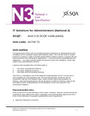 CfE_Unit_N3_AdministrationandIT_ITSolutionsforAdministrators
