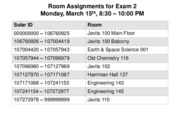 Exam 2 Room Assignments