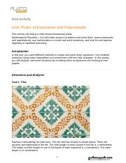 A1_Rules of Exponents and Polynomials_UA