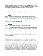 CASE STUDY_Goodwill Impairment_Definitions