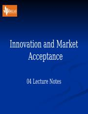 04 Innovation & Market Accept Lecture Notes