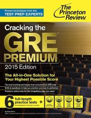 Cracking the GRE Premium Edition with 6 Pr - Princeton Review.pdf