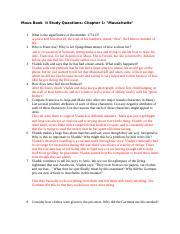 maus study questions quizlet