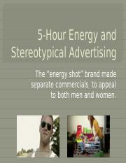 5-Hour Energy and Stereotypical Advertising