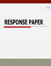 Response Paper Strategy