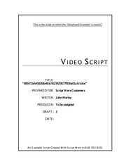 Source Script for Storyboard Example - Notes