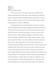 HPM 216 - Final Project Reflection Paper