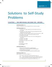 Solutions Self-Study Problem