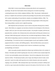 PSY 310 LT WK3 - Alfred Alder