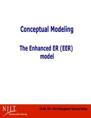 GM CS631103 L02-01 (2) pdf - Conceptual Modeling The