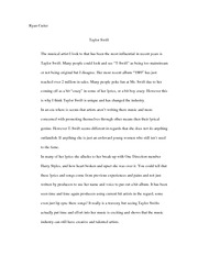 Taylor Swift Essay