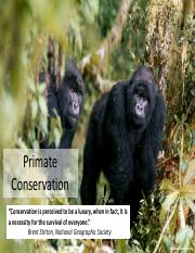 10- Part 1 Primate Conservation 1ppt