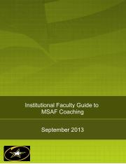 Faculty Coaching Guide v9 (17SEP13)