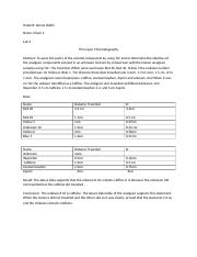 Lab Report 2 Thin Layer Chromatography.docx