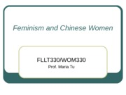 Feminism and Chinese Woman