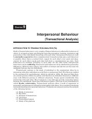 Chapter-6 - Interpersonal Behaviour (Transactional Analysis).pdf