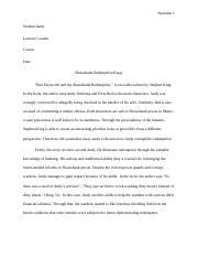 eng final film critique the shawshank redemption final film  4 pages shawshank redemption essay