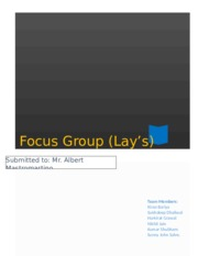 Project II (Focus Group) 3.0