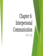 COM 1100 - Chapter 6 - Interpersonal Theory-4