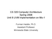 CS 320 Unit 8 Macroarchitecture Implementation