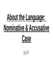 Stage 2 About the Language_  Nominative & Accusative Case.pptx