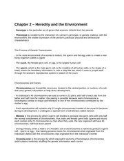 Chapter 2 – Heredity and the Environment