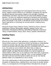 Labeling Theory Research Paper Starter - eNotes