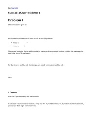 Stat 5101, Fall 1999, (Geyer) First Midterm Solutions