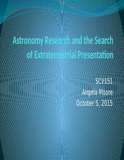 Astronomy Research and the Search of Extraterrestrial Presentation.pptx