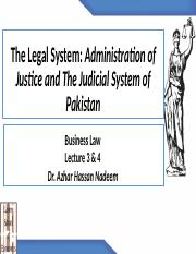 Lec 4 and 5_The Legal System and Administration of Justice .pptx