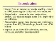 Lecture 3 - Atmospheric pollution