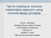 Tips for creating an inclusive mathematics classroom