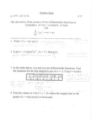 product rule notes