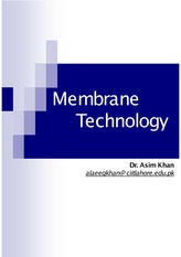 Lecture-12 Membrane Technology