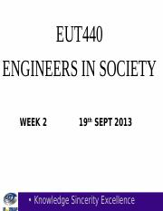 EUT440 LECT WK 3 SEM I 2013-2014 ID HAZARDS AND ROUTES
