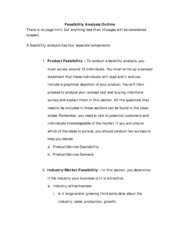 Feasibility Analysis Outline  ICS
